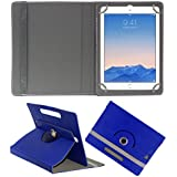 Acm Rotating 360° Leather Flip Case For Apple Ipad Air 2 Tablet Cover Stand Dark Blue