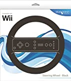 echange, troc Blue Ocean Accessories Steering Wheel - Black (Wii)  - Wii Remote Not Included [import anglais]