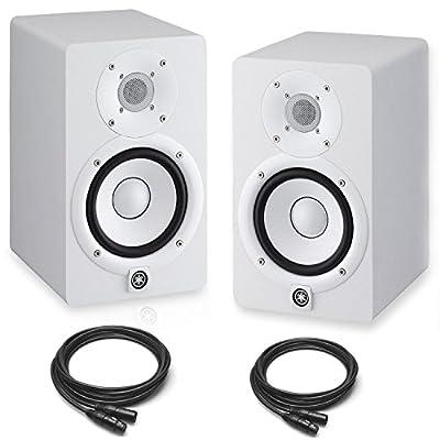 Yamaha HS8 Powered Studio Monitors Pair White w/ XLR Cables - Bundle from Yamaha