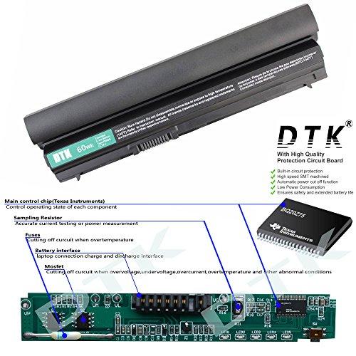 Dtk? New High Performance Laptop Battery Replacement for Dell Latitude E6120 E6220 E6230 E6320 E6320XFR E6330 E6430S Series, 312-1241 312-1242 [Li-ion 11.1V 4400mAh] 12 Months Warranty