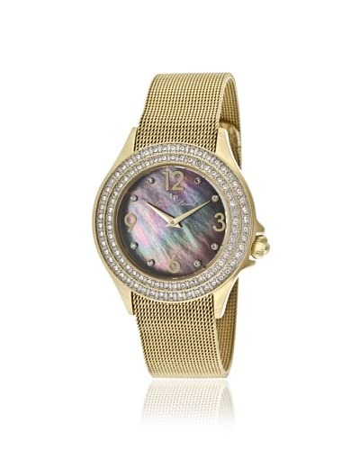 Lucien Piccard Women's 11674-YG-11MOP Balmhorn Black Mother of Pearl Dial Watch As You See