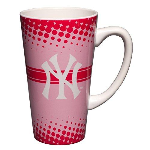 Mlb New York Yankees 16-Ounce Sublimated Latte Mug, Pink