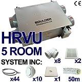 HRVU 5 ROOM FULL SYSTEM HEAT RECOVERY VENTILATION KIT CONDENSATION MHRV DHV-15B