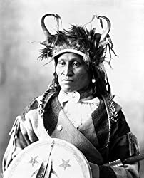 Chief Wets It, Asinboine Tribe, ca. 1898 Photograph - Beautiful 16x20-inch Photographic Print from the Library of Congress Collection