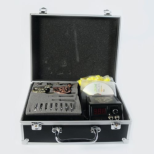 Storage case tattoo machine tattoo kit tattoo ink lcd for Tattoo machine case