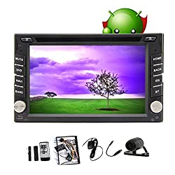 See Free Camera included ! Android 4.2 Car DVD Player 6.2 inch Double Din In Dash Capacitive HD Multi-Touch Screen GPS Navigation Radio Stereo Support Bluetooth/SD/USB/Ipod/Iphone/AM/FM/AV-IN/3G/Wifi/DVR Details