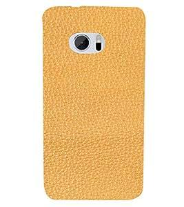 PrintVisa Tan Leather Design 3D Hard Polycarbonate Designer Back Case Cover for HTC One M10