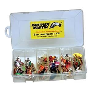 Panther martin bass kit 36 piece fishing for Bass fishing kit