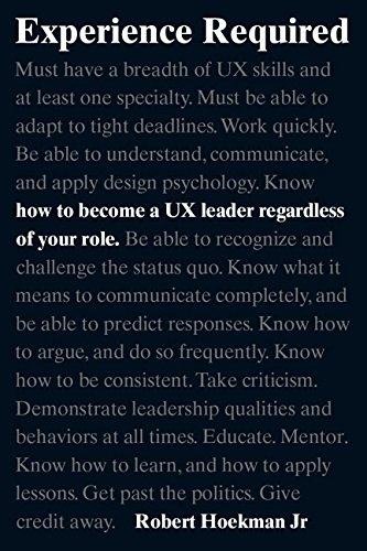 Experience Required:How to become a UX leader regardless of your role (Voices That Matter)