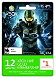 Xbox LIVE 12 Month Gold Membership + 1 Bonus Month [Online Game Code]