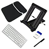 IKross Portable Folding Travel Stand plus Stylus, Bluetooth Keyboard, Brush, Neoprene Carrying Case for 9.7 inch Tablets: Apple iPad Air ,LG G Pad 8.3 ,Samsung Galaxy Note 8 GT-N5100 / GT-N5110