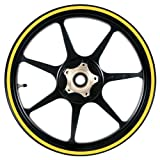 51RaDd6fx8L. SL160  Yellow 16 to 19 inch Motorcycle, Scooter, Car & Truck Wheel Rim Stripes 1/2 or 12.5mm