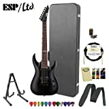 ESP LTD MH-207-BLKS Black Satin Electric Guitar w/ Accessories & Hard Case