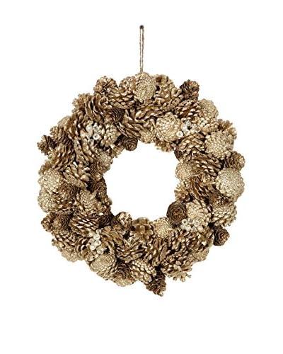 Sage & Co. Medium Pine Cone Jewel Glittered Wreath