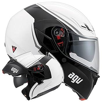 AGV Helmets 1021A2EY_003_M Casque de Moto, Blanc, Taille M