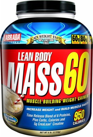 Labrada Lean Body Mass 60 Vanilla Ice Cream -- 6 Lbs