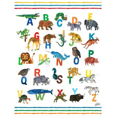 "Oopsy Daisy NB18932 Eric Carle's ABC's Boy Canvas Wall Art, 18"" by 24"""