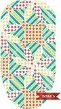 Tulip Checkers Full Nail Art Wrap by YRNails