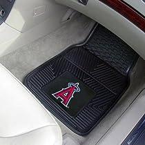 Los Angeles Angels of Anaheim Black 2-Piece Vinyl Car Mat Set-