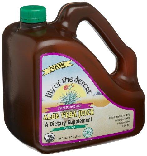 Lily Of The Desert Organic Aloe Vera Juice Whole Leaf -- 128 Oz