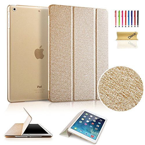iPad Mini Case, Mini 2/3 Case, Dteck(TM) Ultra Slim [Lightweight] Tri-fold Leather Case with [Auto Wake/ Sleep Function] Smart Cover for Apple iPad Mini 3/ 2/ 1 (7.9 inches tablet) (Gold) (Ipad Mini Smart Case Leather compare prices)