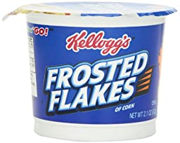 Kellogg\'s Frosted Flakes Cereal In A Cup,  2.1-Ounce (Pack of 12)