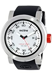 "red line Men's RL-50049-02S ""Torque Sport"" Stainless Steel Watch With Black Silicone Band"