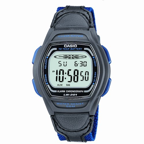 Casio Blue and Black Digital Ladies Watch - LW-201B-2AVEF