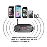 FM-Transmitter-Doosl-35mm-FM-Transmitter-mit-Display-Musik-Empfnger-fr-iPhone-654-iPad-iPod-Samsung-Gerte-und-Alle-Smartphones-Schwarz