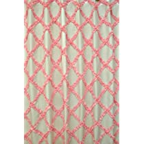 Pink trellis shower curtain (70 x 70) button holed