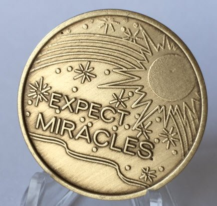 Expect Miracles- Bronze Medallion