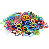 "SODIAL(R) Banda Elastica Silicona Multicolor - 600 Bandas & 25 Clip ""S""!"