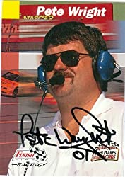 Pete Wright autographed Trading Card (Auto Racing) Finish Line