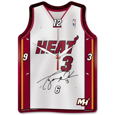 NBA Jersey High Def Plaque Clock NBA Team: Miami Heat - Dwayne Wade