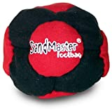World Footbag SandMaster Hacky Sack Footbag, Red/Black