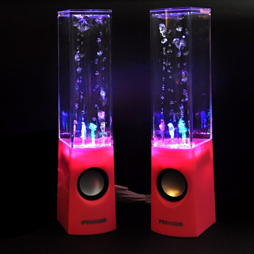 Pixnor High Quality Charming Rainbow Led Fountain Water Dance Speakers For Kindle Andriod Tablet Pc Galaxy Note Smartphone Mp3