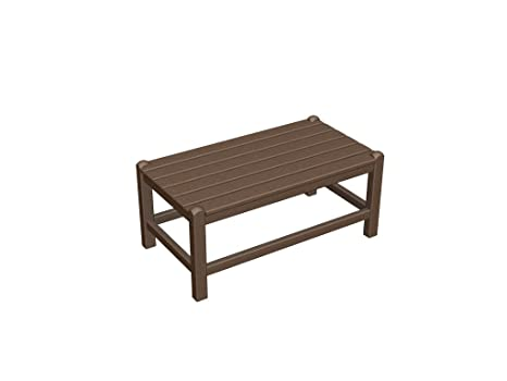 """Recycled Plastic 32""""x18"""" Coffee Table by Polywood Frame Color: Mahogany"""