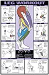 Leg Workout 24 X 36 Laminated Chart