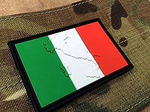 Patch Nation - Patch PVC Velcro Drapeau Italien Italie Gravé