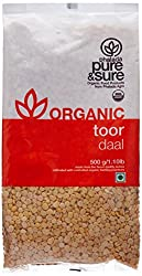 Pure & Sure Organic Toor Dal, 500g