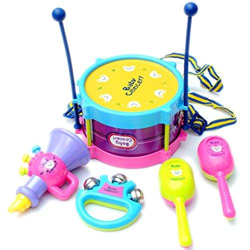 SMTSMT Baby Roll Drum Musical Instruments Band Kit Children Toy