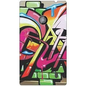 Via flowers Tooned Matte Finish Phone Cover For Nokia Lumia 520
