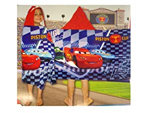 Blue Cars Hooded Towel for Kids - Cars Towel