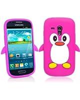 SKS Distribution� Rose Chaud Mignon Pingouin Manchot Etui Coque Housse Pour Samsung Galaxy S3 SIII Mini i8190