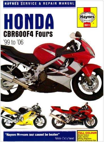 Honda CBR600F4 Service and Repair Manual: 1999 to 2006 (Haynes Service and Repair Manuals)