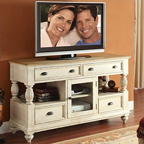 Riverside Furniture Coventry Two Tone Tall TV Console in Dover White (Console In Furniture compare prices)