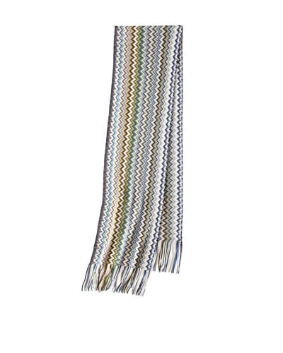 Missoni Women's Zigzag Scarf, Blue/Brown As You See