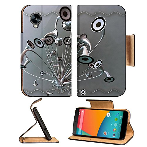 Variety Silver Metallic Speaker Design Google Nexus 5 Hammerhead Lg Flip Case Stand Magnetic Cover Open Ports Customized Made To Order Support Ready Premium Deluxe Pu Leather 5 11/16 Inch (145Mm) X 2 15/16 Inch (75Mm) X 9/16 Inch (14Mm) Luxlady Nexus Cove