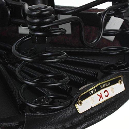 OUTERDO Bicycle Bike Vintage Imitation Leather Dual Coil Spring Rear Saddle Seat Black 4