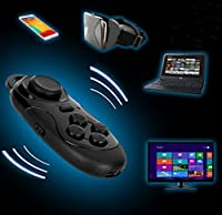 VIIVRIA® Mini Multifunction Portable Wireless Bluetooth V3.0 Selfie Camera Shutter Gamepad Remote Game Console Controller Compatible with Android IOS PC for iPhone Samsung HTC (Mini Bluetooth Remote) by VIIVRIA